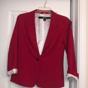 Women's Red Blazer Polka Dot detail NEW XS